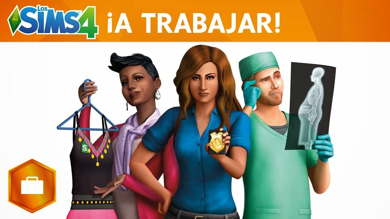 Imagen de la portada del juego Los Sims 4 ¡A trabajar!