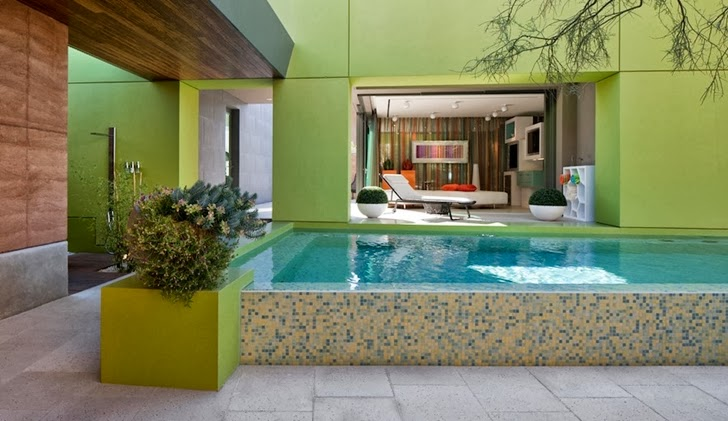 Swimming pool in Multimillion modern dream home in Las Vegas