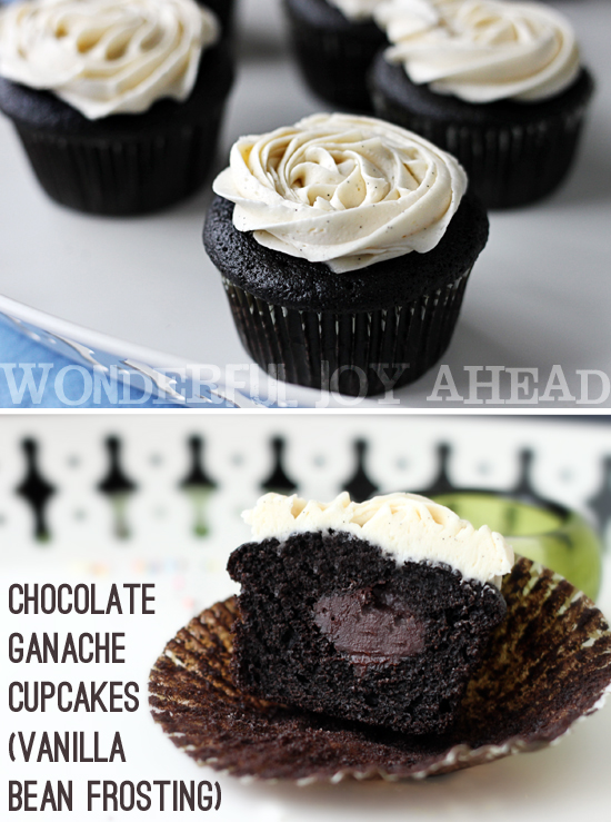 Wonderful Joy Ahead: Chocolate Ganache Filled Cupcakes ...