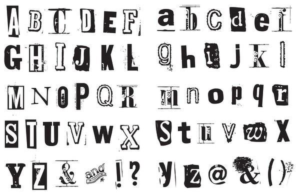 Abecedarios blanco negro para imprimir - Imagenes y dibujos para ...