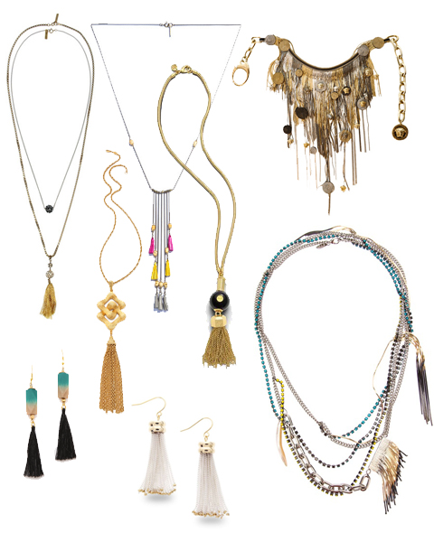 Fringed and tassels Jewelry 2013