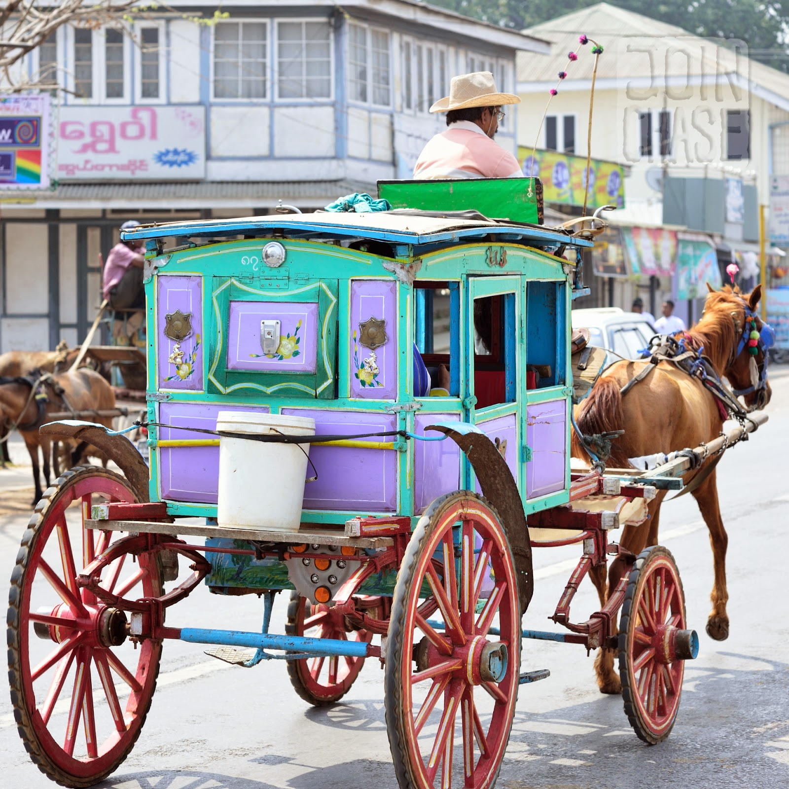 A horse-drawn carriage in Pyin Oo Lwin, Myanmar.