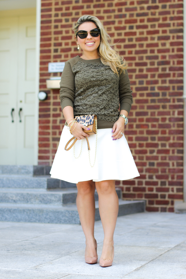 classic fall transition outfit
