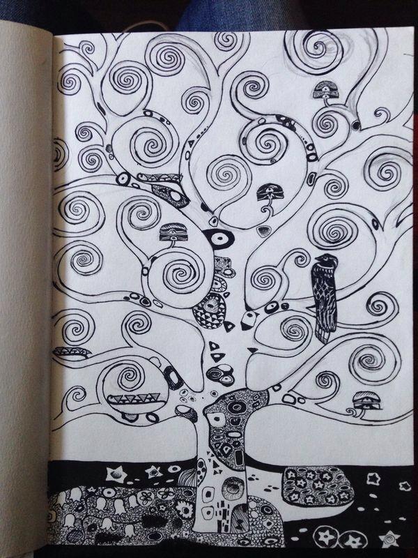 Diario di bordo del comandante gustav klimt l 39 albero for Albero della vita significato