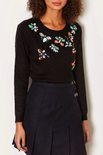jewelled crop jumper