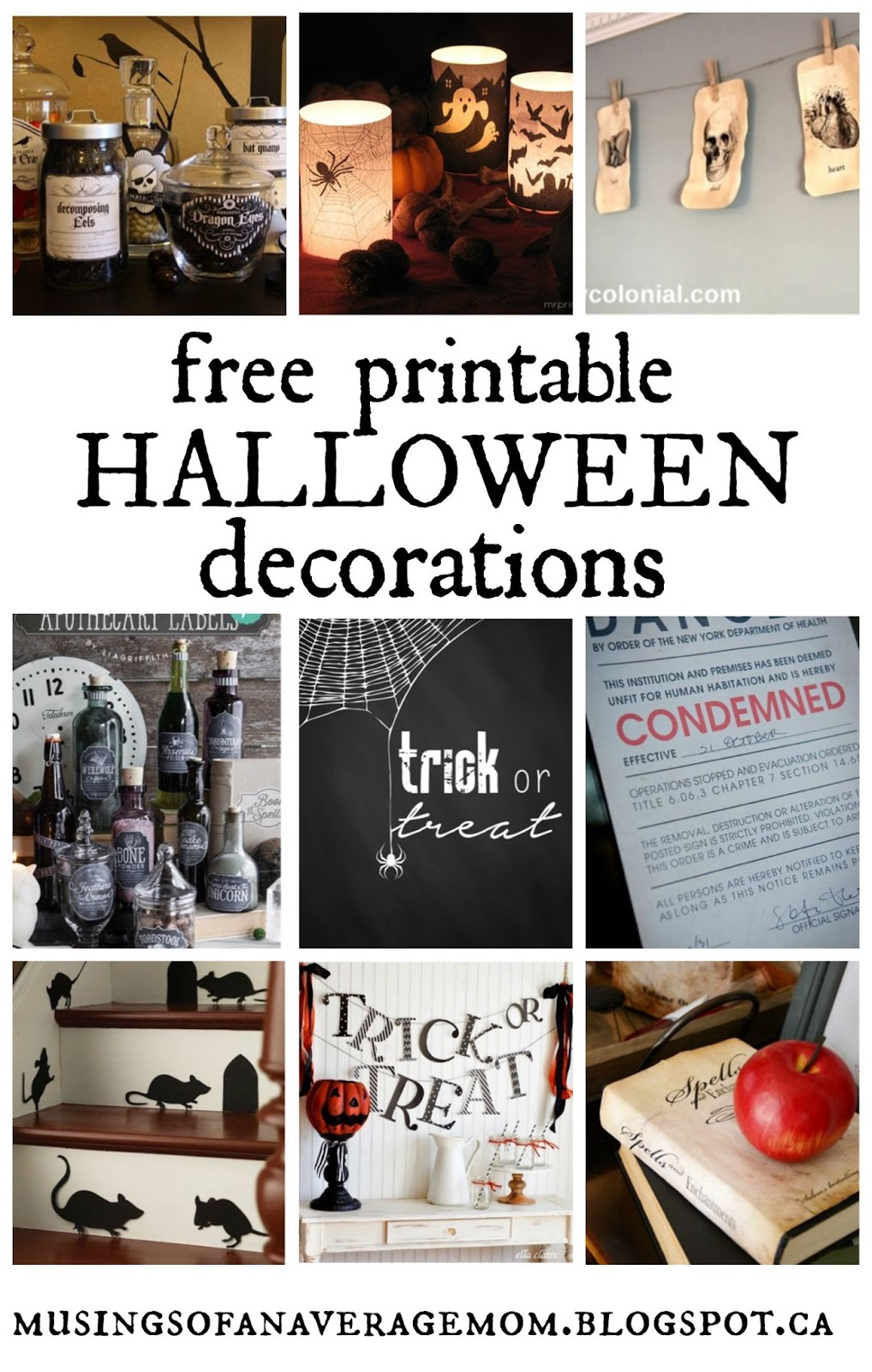 This is a picture of Crafty Free Printable Halloween Decorations