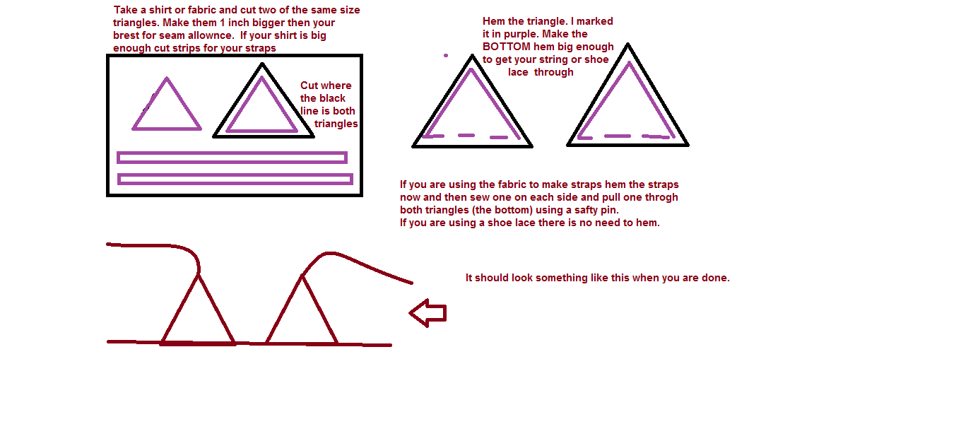triangle and marks