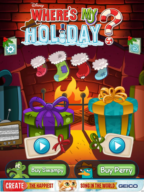 Where's My Holiday? Free App Game By Disney