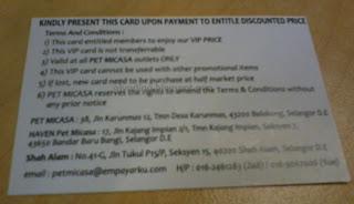 VIP Card Pet Micasa