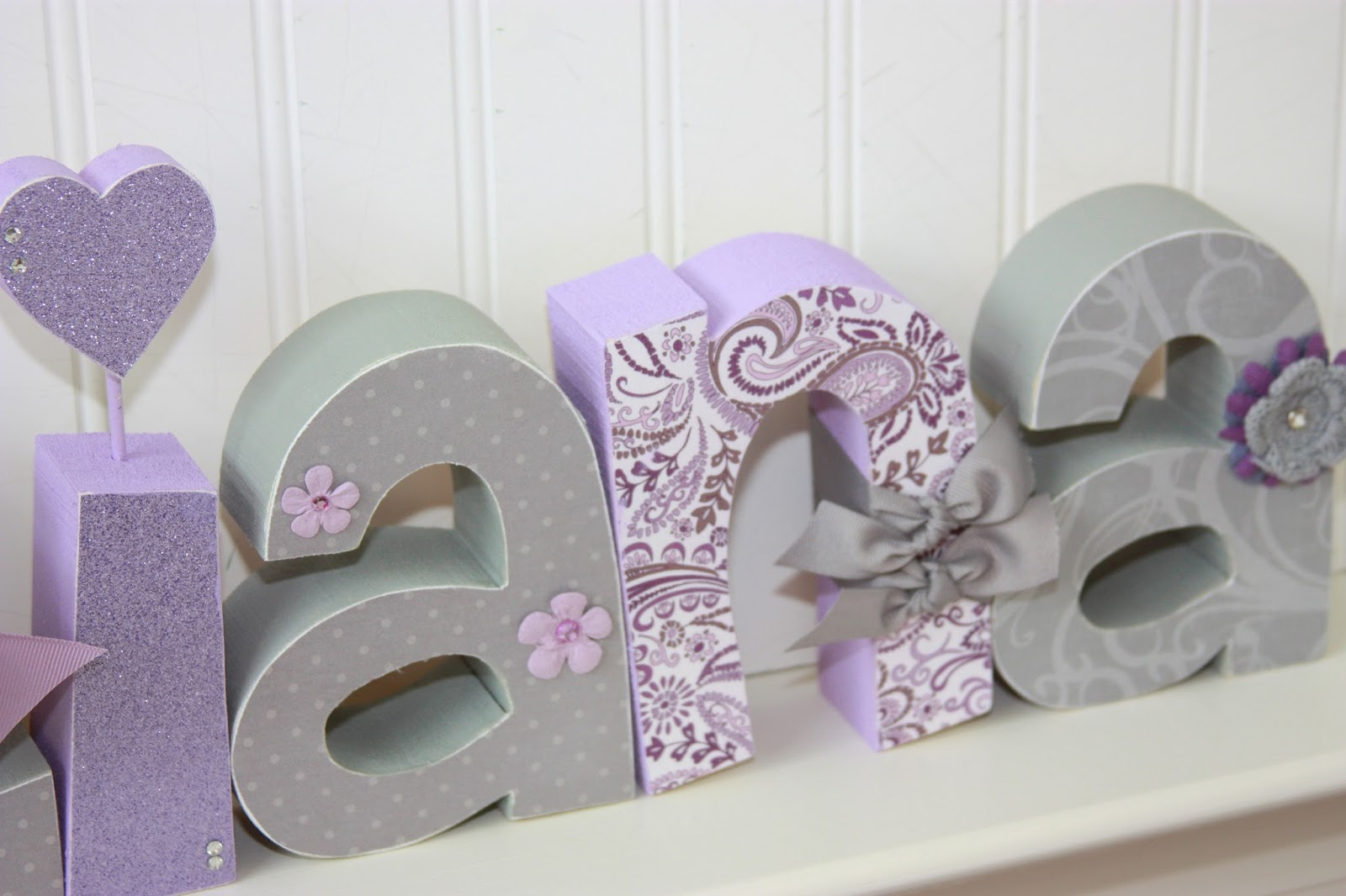 Dotted Cross Designs New Freestanding Wood Letters