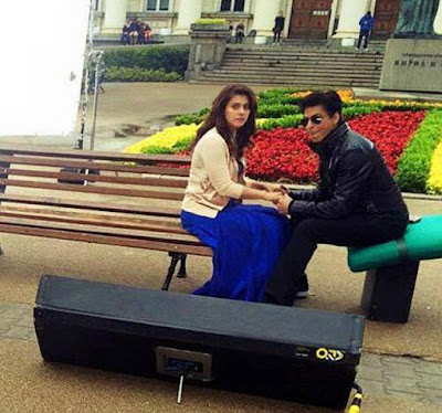 Shah Rukh Khan and Kajol from the Sets Of Dilwale!