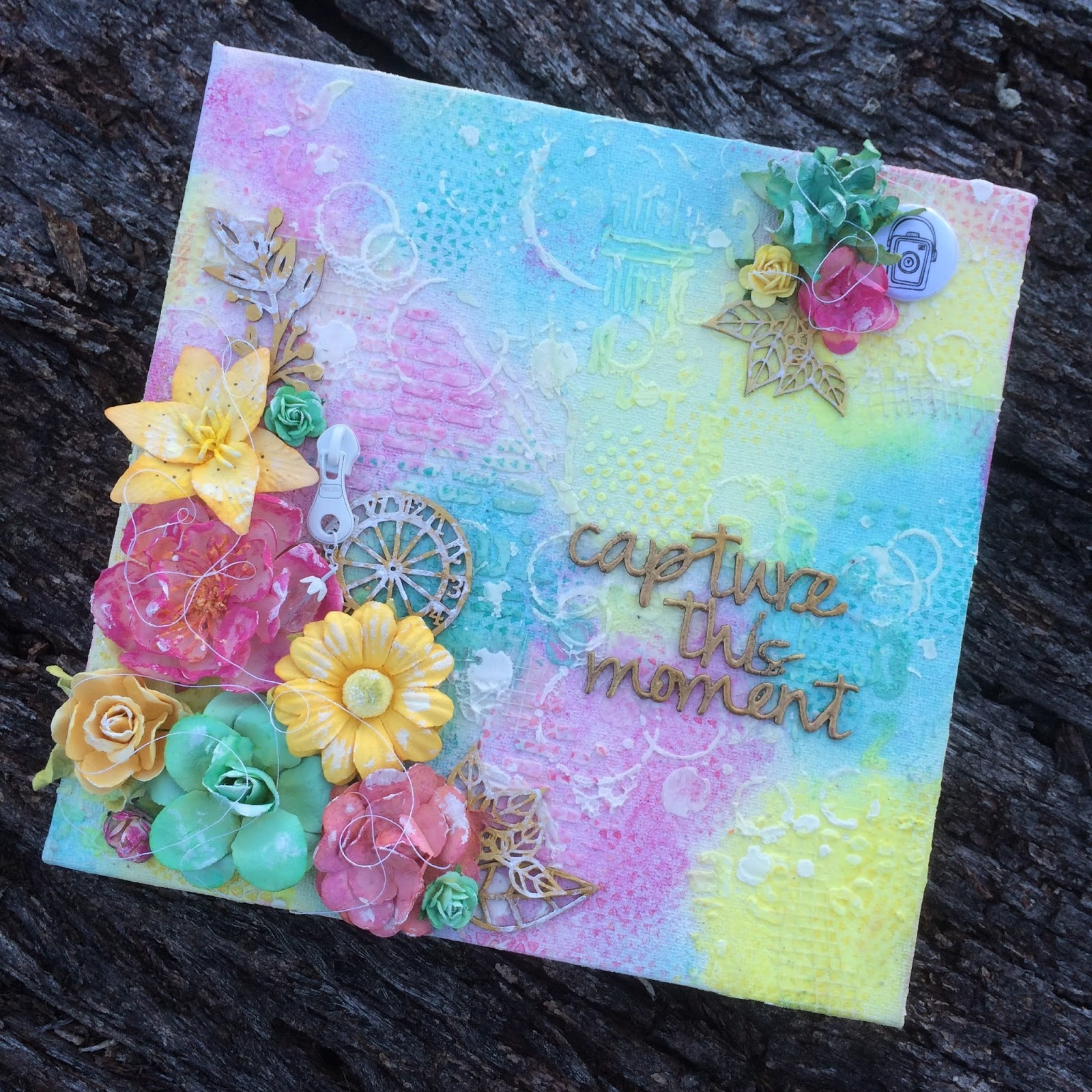 How to scrapbook canvas - Know That S It S Now Bringing A Smile To Someone Else S Face