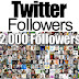 Get Free 2000 Twitter Followers Free
