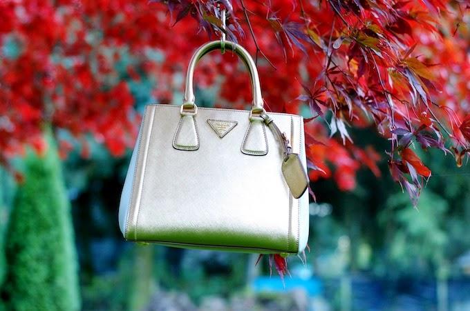 Prada Saffiano Lux Bicolor EW tote (BN2608) handbag