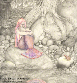"""First Encounter""  © Barbara A. Freeman, Drawing"