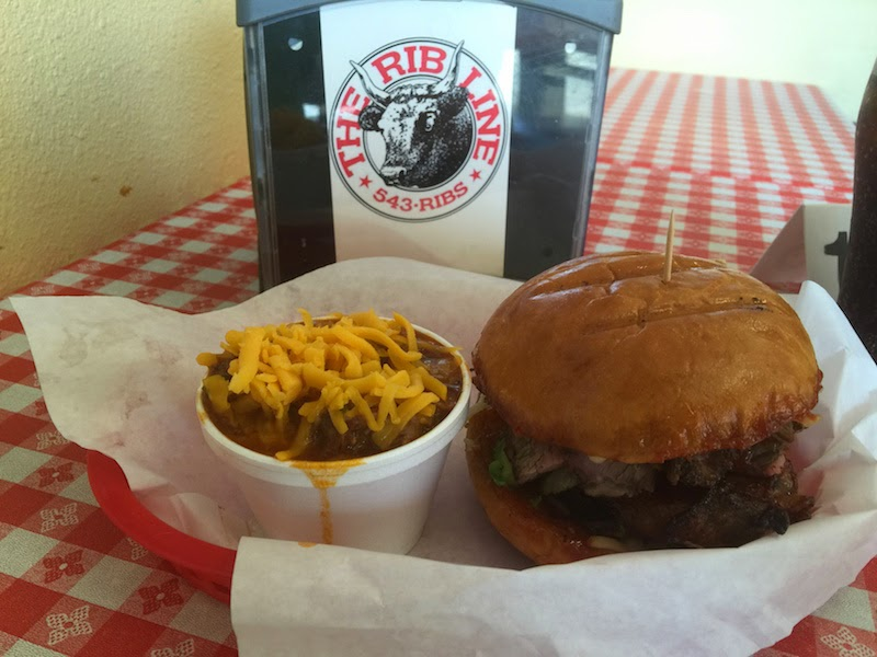 The BBQ tri tip and chili at The Rib Line in San Luis Obispo