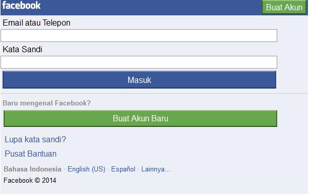 Cara Cepat Daftar Facebook Lewat HP