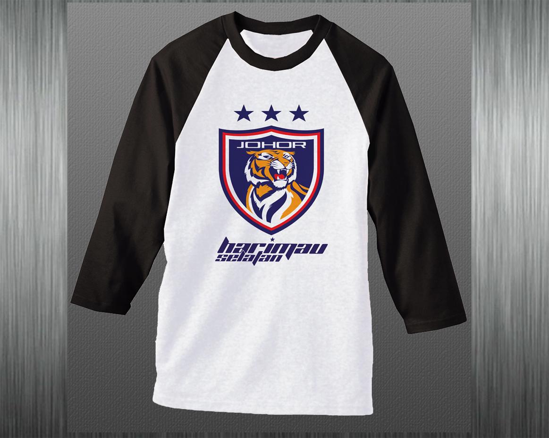 Design t shirt johor - Raglan Black Price Rm 70