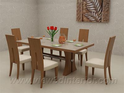 Dining room interior design free design news for Kitchen set unik