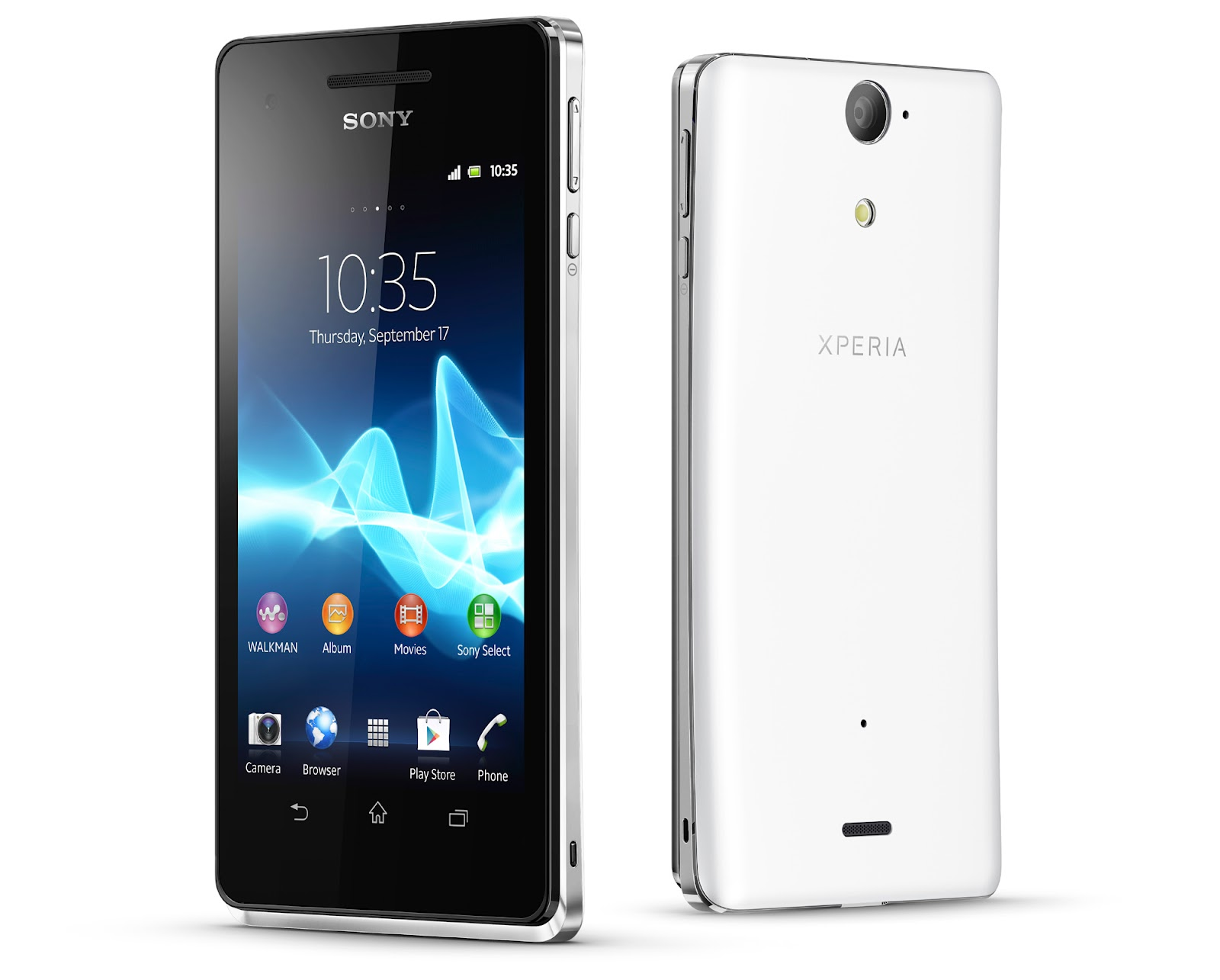 smartphone sony xperia v android specifications sony