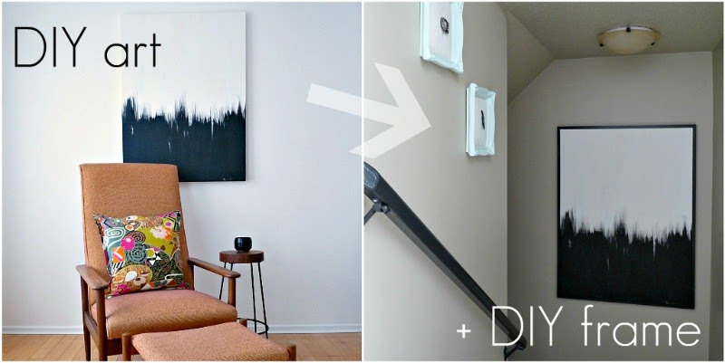 diy picture frame how to fix a warped canvas dans le lakehouse