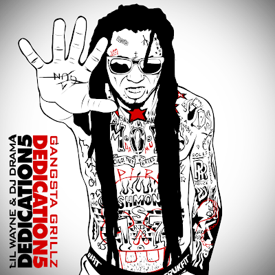 portada de dedication 5 mixtape lil wayne dj drama