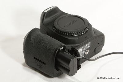 ACK-E2 compatible DC Coupler in Canon EOS 50D
