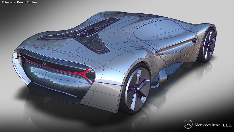 Mercedes benz elk fits the future ev supercar bill carscoops for Mercedes benz concept electric car