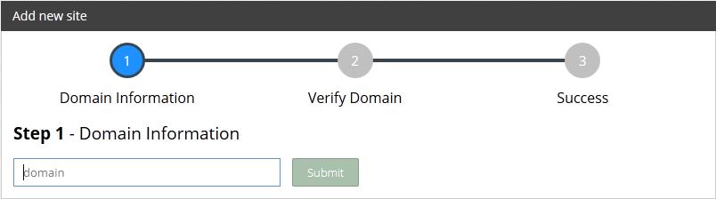 Kemudian klik menu SITE