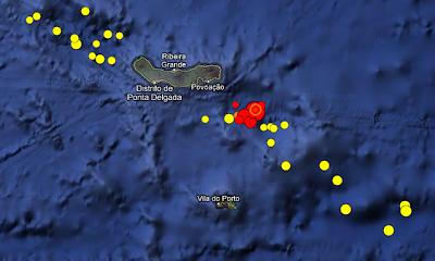Actividad sismica en islas Azores, 30 de Abril de 2013