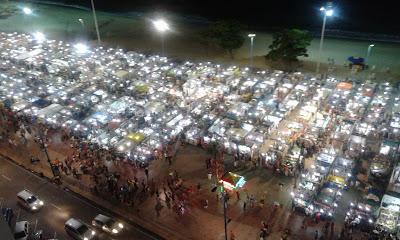 Vista de Feirinha de Meireles desde o Hotel Praiano - Fortaleza -CE