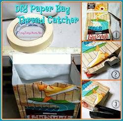 DIY Paper Bag Thread Catcher