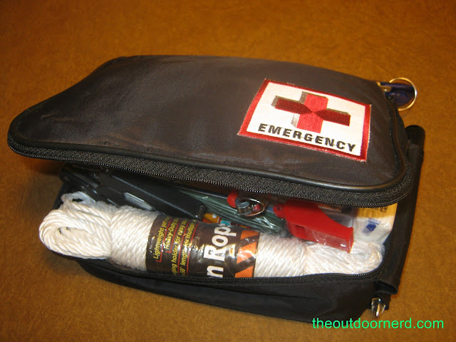 Car survival kit, shown closed