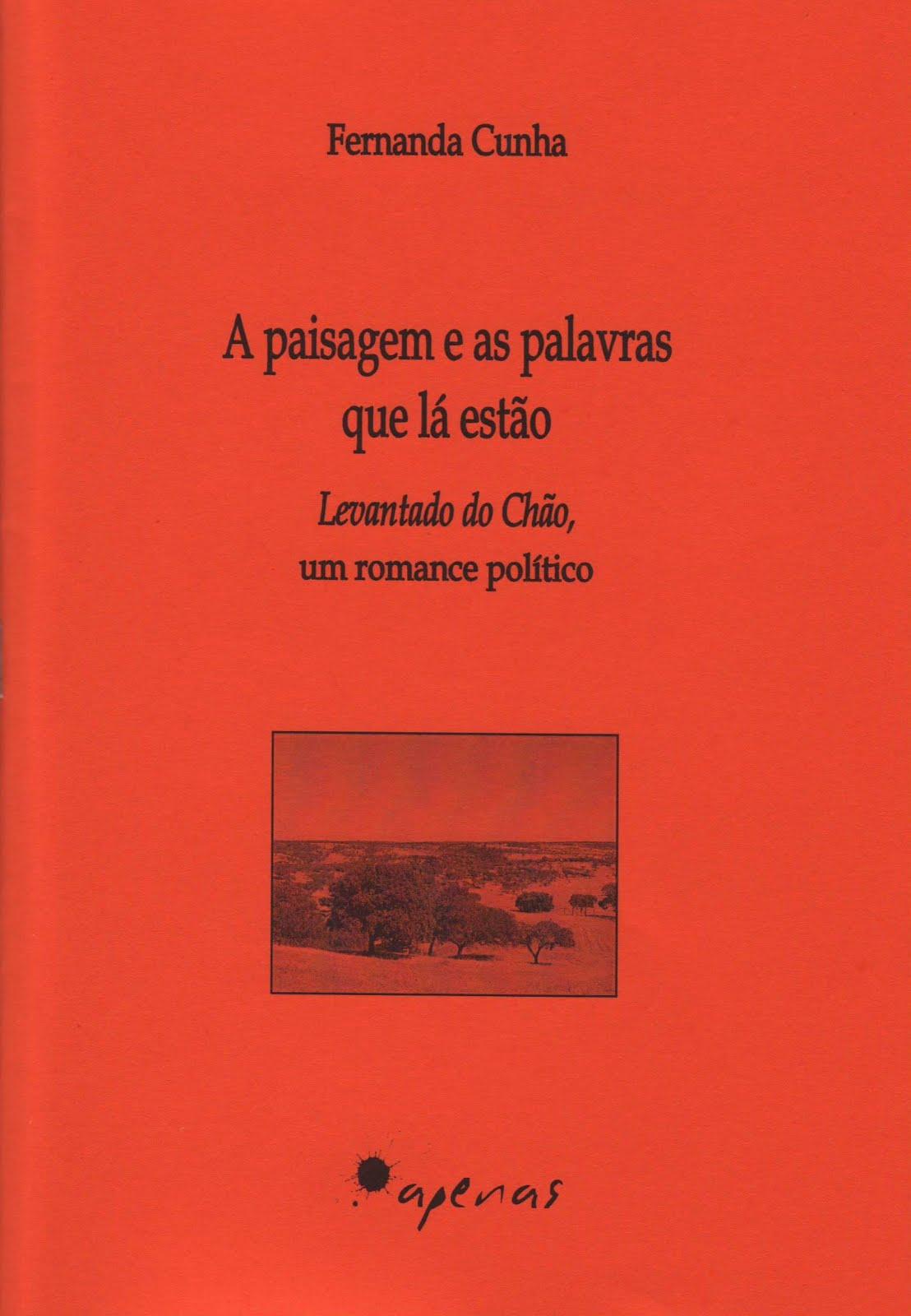 Livro: «A paisagem e as palavras que lá estão. Levantado do Chão, um romance político»