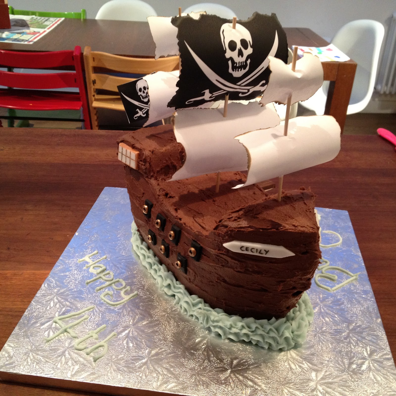 Truly Scrumptious Pirate Ship Cake