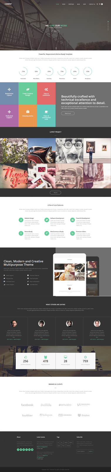 Free Responsive Multipurpose WordPress Theme