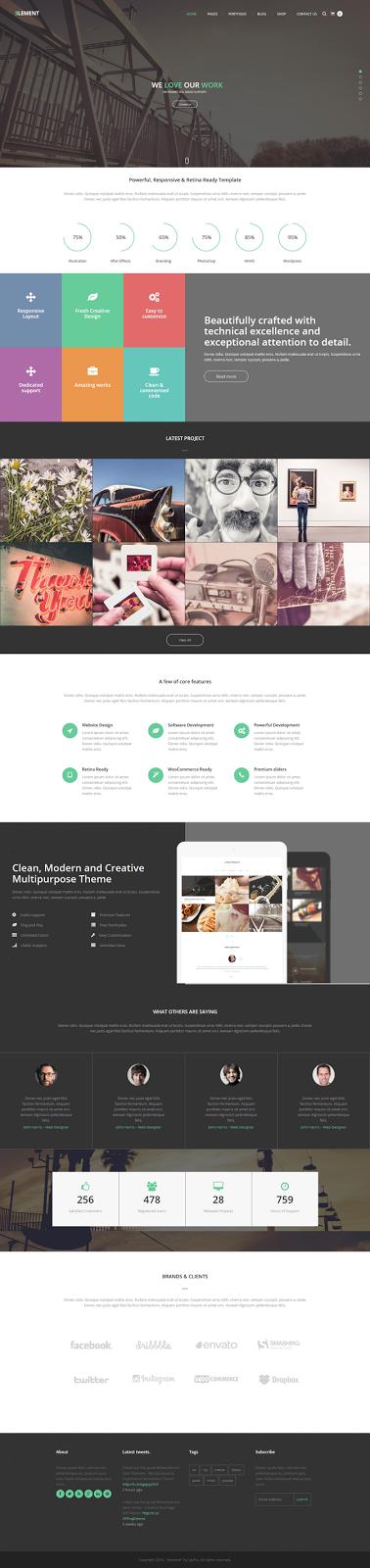 Free Responsive Multipurpose WordPress Theme