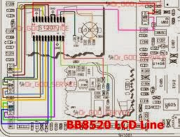 BLACKBERRY  8520 LCD LINE