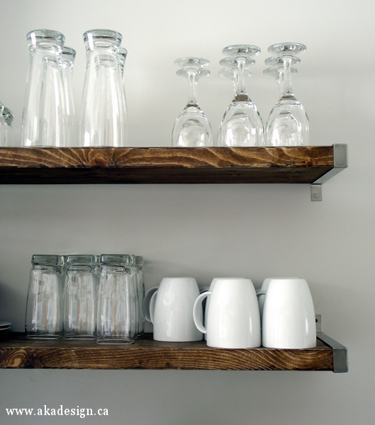 Open Kitchen Shelves Designs: So Canadian Eh? Update