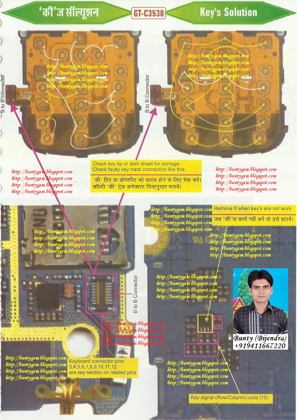 samsung c3530 keypad solution by buntygsm mobile repairing