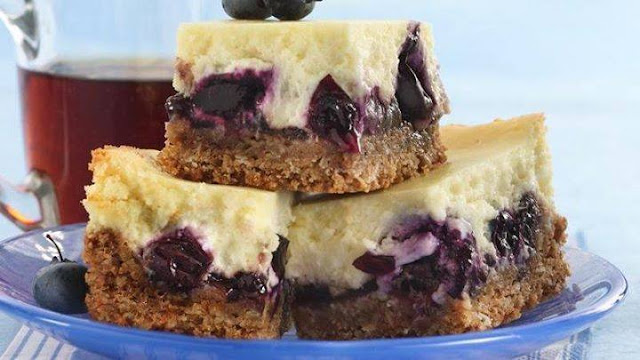 LEMON BLUEBERRY CHEESE BARS
