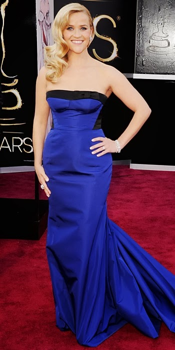 Reese Witherspoon in Louis Vuitton at the Academy Awards, 2013
