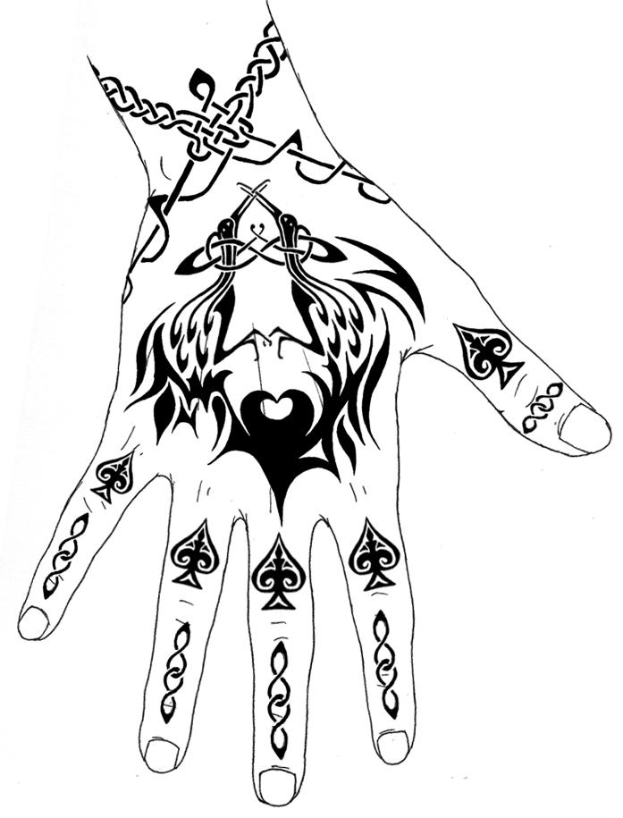 THE BLACK TATTOOS Hand Tattoo