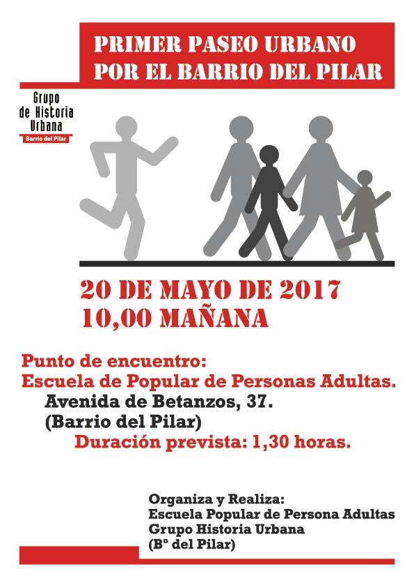 20 mayo Paseo urbano por el barrio de El Pilar