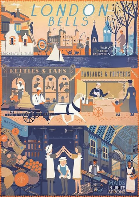 A vintage-style print of London