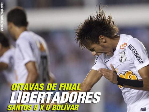 Pela Libertadores o Santos goleou o Bolívar por 8 x 0