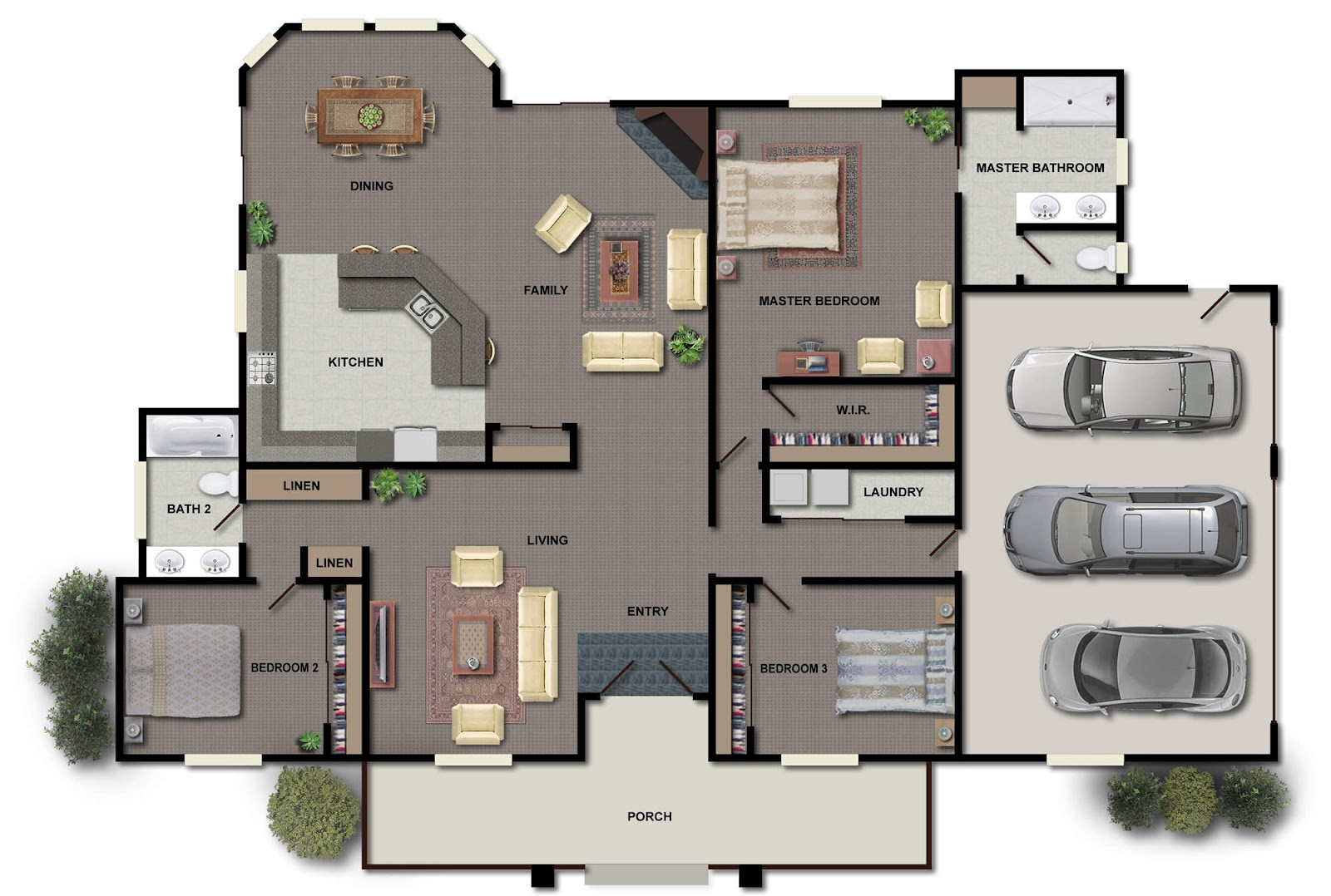 Modern house floor plans home design ideas u home design for Modern luxury floor plans