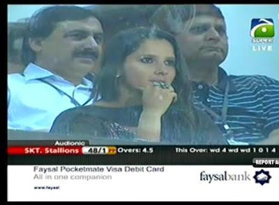 Tennis Star Sania Mirza at National Stadium, Karachi