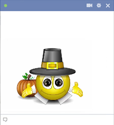 Animated Thanksgiving Emoticon