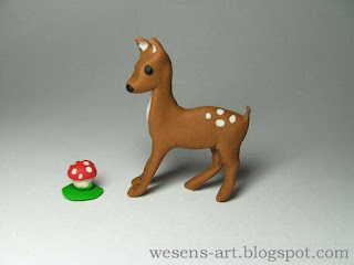 Polymer Clay Deer      wesens-art.blogspot.com